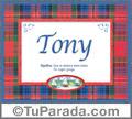 Tony, nombre, significado y origen de nombres
