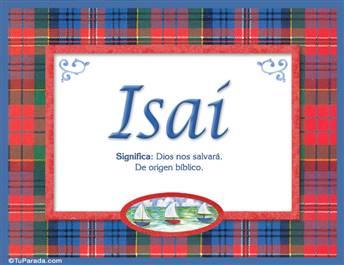 Isaí, nombre, significado y origen de nombres