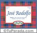 Nombre Tarjeta con imagen de José Rodolfo para feliz cumpleaños
