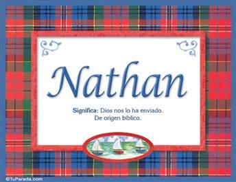 Nathan, nombre, significado y origen de nombres