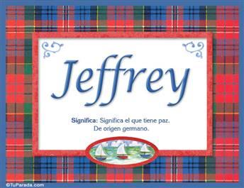 Jeffrey, nombre, significado y origen de nombres