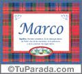 Marco, nombre, significado y origen de nombres