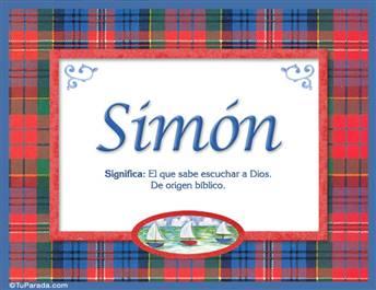 Simón, nombre, significado y origen de nombres