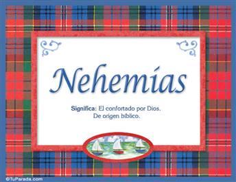 Nehemías, nombre, significado y origen de nombres
