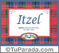 Itzel, nombre, significado y origen de nombres