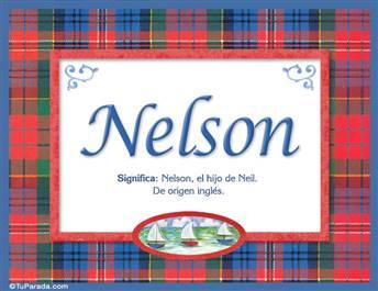 Nelson, nombre, significado y origen de nombres