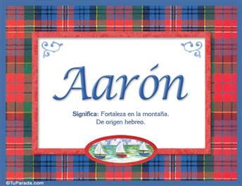 Aarón, significado y origen de nombres