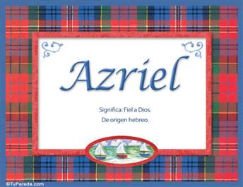 Azriel, significado y origen de nombres