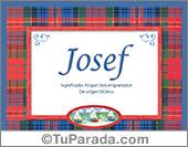 Josef, nombre, significado y origen de nombres