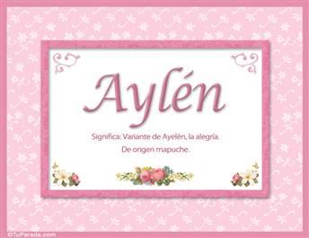 Aylén - Significado y origen
