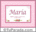 María - Significado y origen