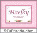 Maelby - Significado y origen