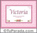 Victoria - Significado y origen