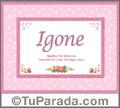 Igone - Significado y origen