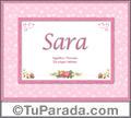Sara - Significado y origen