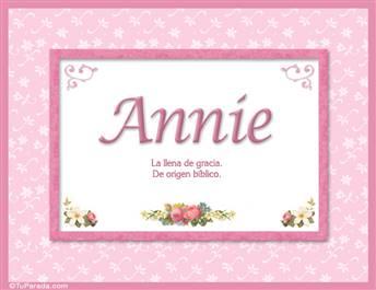 Annie - Significado y origen