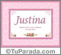 Justina - Significado y origen