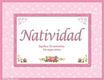 Natividad - Significado y origen