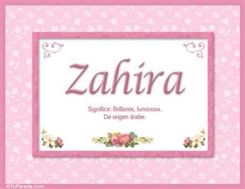 Zahira - Significado y origen