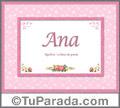 Ana - Significado y origen