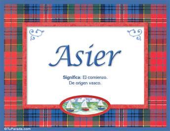 Asier - Significado y origen