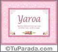 Yaroa - Significado y origen