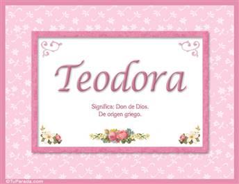 Teodora - Significado y origen
