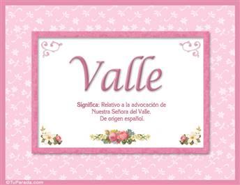 Valle - Significado y origen