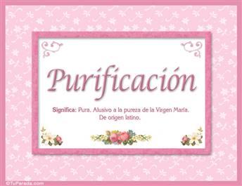 Purificación - Significado y origen