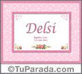 Delsi - Significado y origen
