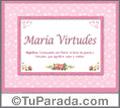 María Virtudes - Significado y origen