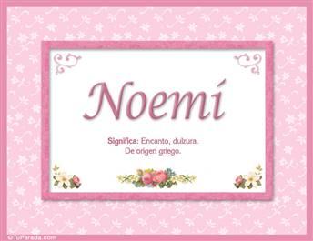 Noemí - Significado y origen