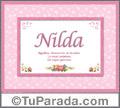 Nilda - Significado y origen