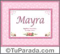 Mayra - Significado y origen