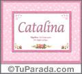 Catalina - Significado y origen