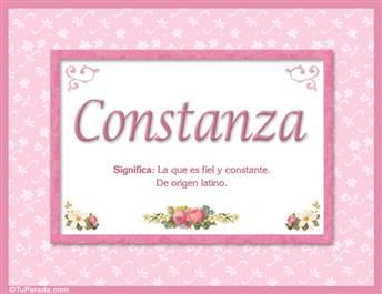 Constanza - Significado y origen