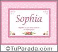Sophia - Significado y origen