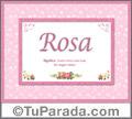 Rosa - Significado y origen