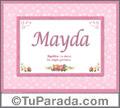Mayda - Significado y origen