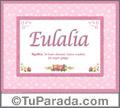 Eulalia - Significado y origen