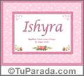 Ishyra - Significado y origen