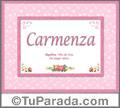Carmenza - Significado y origen