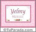 Yelmy - Significado y origen