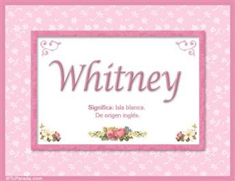 Whitney - Significado y origen