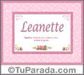 Leanette - Significado y origen