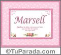 Marsell - Significado y origen