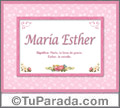 María Esther - Significado y origen
