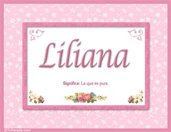 Liliana - Significado y origen