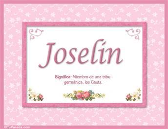 Joselin - Significado y origen