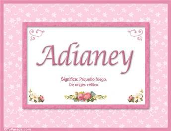 Adianey - Significado y origen